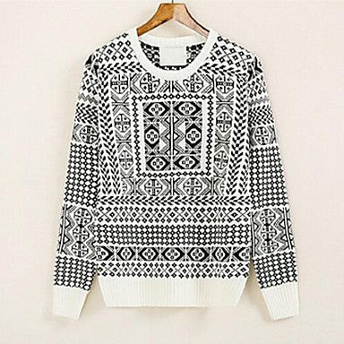 Men's New Moral Plane Design Pattern Crewneck Sweater