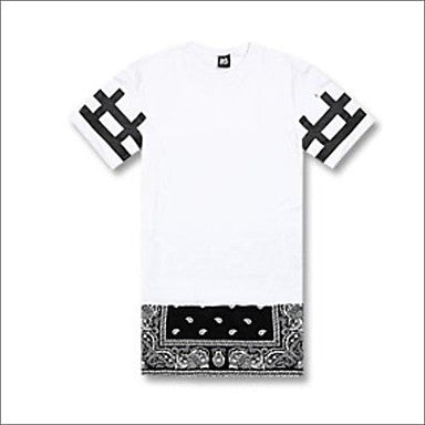 Men's Hip Hop Zipper Long Tshirt