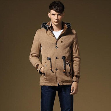 Men's New Arrival Casual High-Quality Long Sleeve Cotton Coat