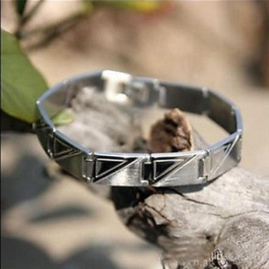 Men's Fashion Personality Titanium Steel Steel Triangle Pattern Bracelets