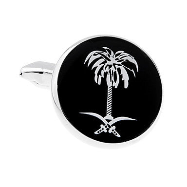 Men's Alloy Coconut Tree Pattern Cufflink(1 pair)