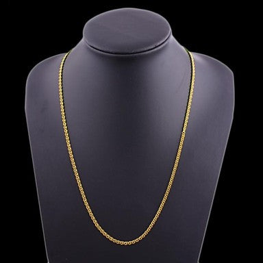 Figaro Chain 80cm Men Golden Gold Plated Chain Necklaces(7mm Width)