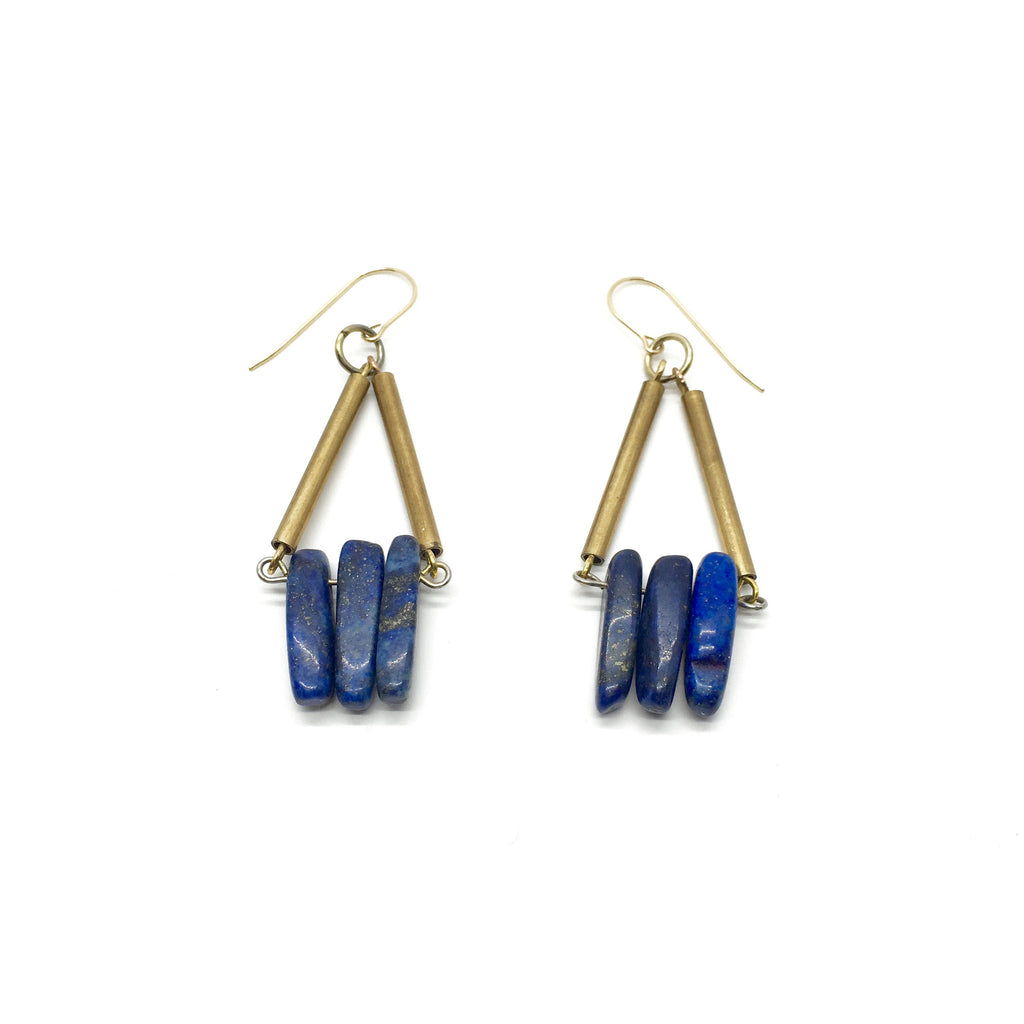 Hemera Earrings - Lapis Lazuli