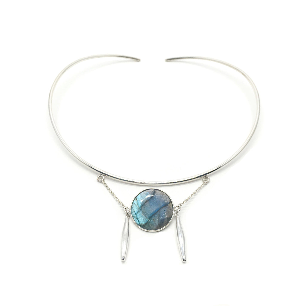 Halo Necklace - Labradorite