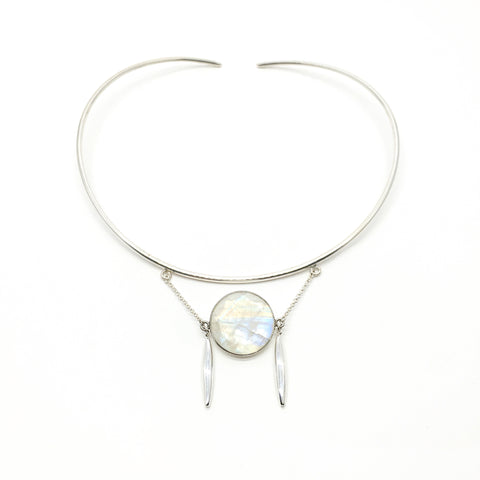 Halo Necklace - Moonstone