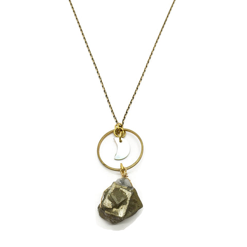 Orbit Necklace - Pyrite