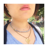 Phoebe Necklace - Grey Pearls