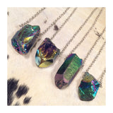 Large Titanium Quartz Necklace