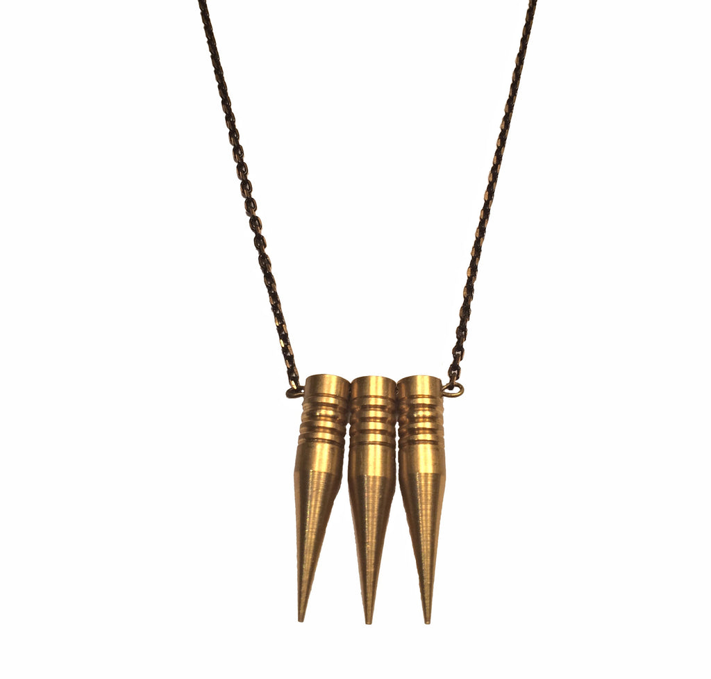 Tri-Spike Necklace