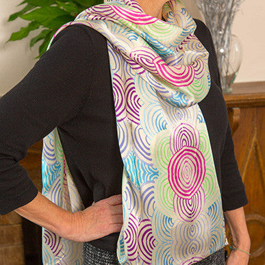 THE MARLBOROUGH MOUND SILK SCARF