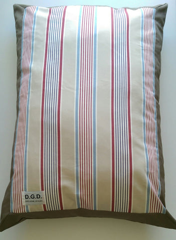 NEW HUGE Hampton Stripe Dog Cushion