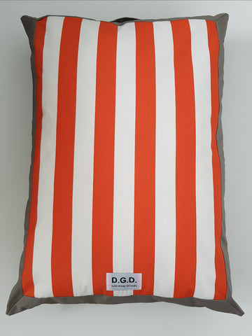 Large Malibu Stripe Dog Cushion