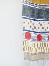 Load image into Gallery viewer, close up view of handmade block printed cotton scarf