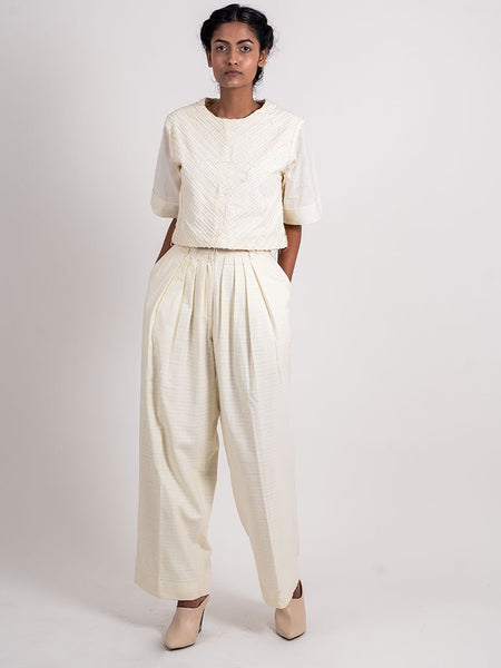 4 Pleated Pant-BOTTOMS-IKKIVI