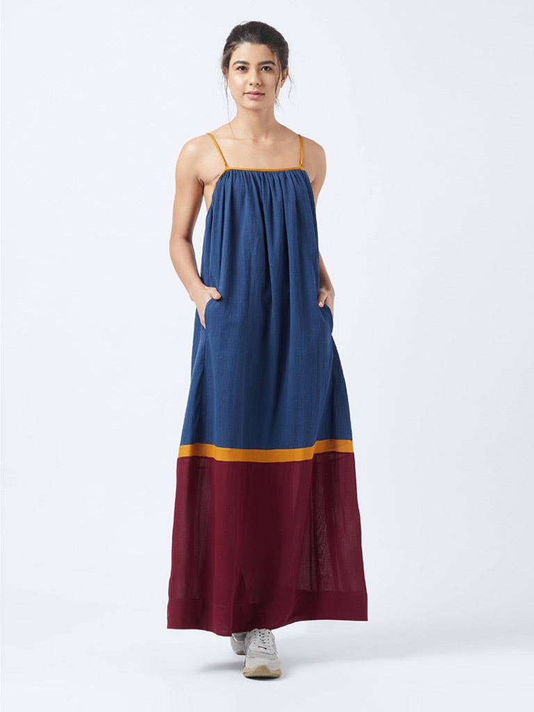 Mabel Blue Backless Dress