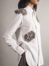 Load image into Gallery viewer, Embellished White Poplin Shirt
