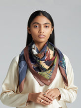 Load image into Gallery viewer, 'Enchanted Garden' Silk Scarf