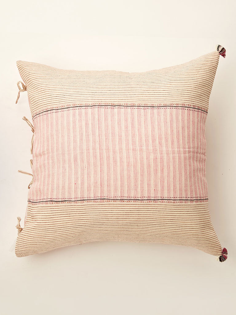 Pink kala cotton cushion 24 by 24