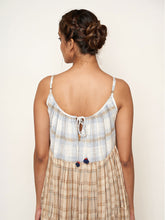 Load image into Gallery viewer, 'Madras' Flared Cotton Madras Checks Tier Dress