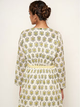 Load image into Gallery viewer, 'Amer' Mughal hand block printed cotton dress