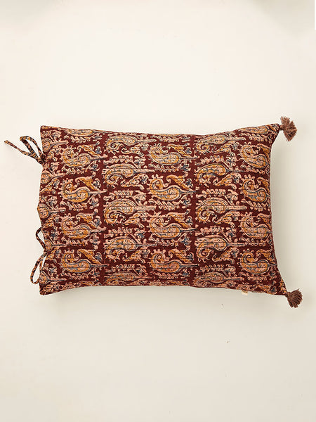 Ajrakh cushion 13 by 17