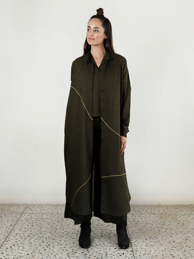 Noodle Wave Olive Co-Ord