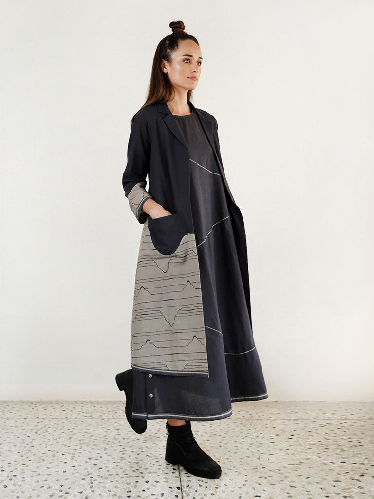 Relaxed Waves Jacket Maxi Co-Ord