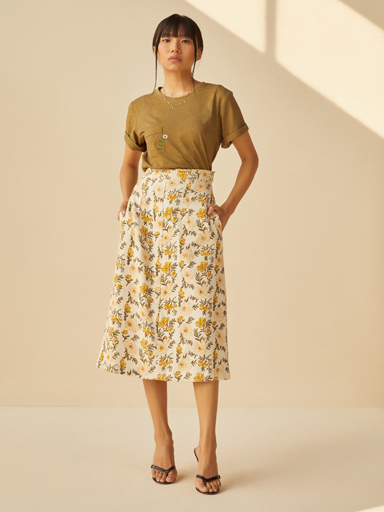 Sunshine Poppy Skirt