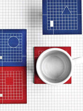 Load image into Gallery viewer, The Grid System Coasters (Set of 6)