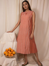 Load image into Gallery viewer, Apricot Band Neck Dress-DRESSES-IKKIVI