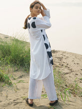 Load image into Gallery viewer, Asymmetrical Dotted Kurta Set-TOPS-IKKIVI