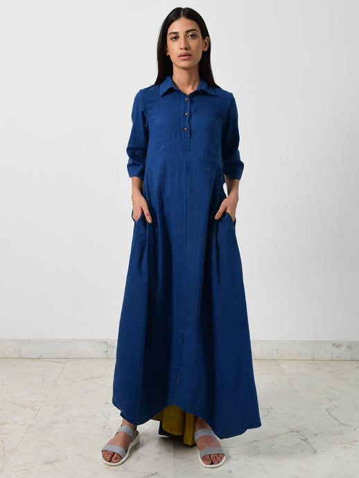 Blue Collar Jumpy-DRESSES-IKKIVI