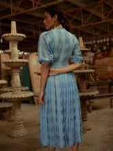 Load image into Gallery viewer, Blue French Ruffles-DRESSES-IKKIVI