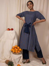 Load image into Gallery viewer, Blue Mountain Kurta and Pants Set-DRESSES-IKKIVI
