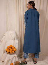 Load image into Gallery viewer, Blue Skies Kurta and Pants Set-DRESSES-IKKIVI