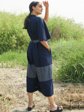 Load image into Gallery viewer, Blue Stripe Jumpsuit-SKIRTS & TROUSERS-IKKIVI