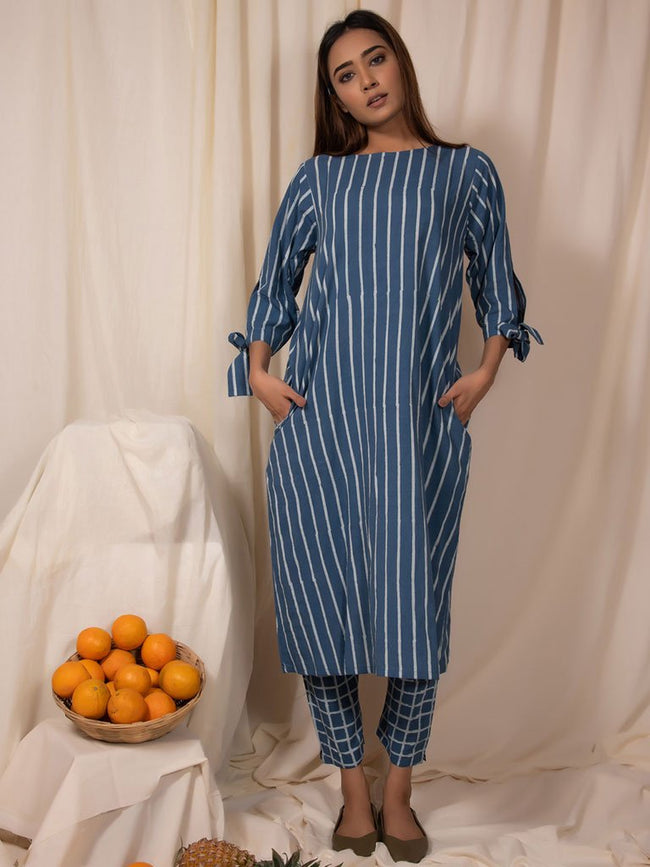 Bluemoon Tunic and Pants Set-DRESSES-IKKIVI