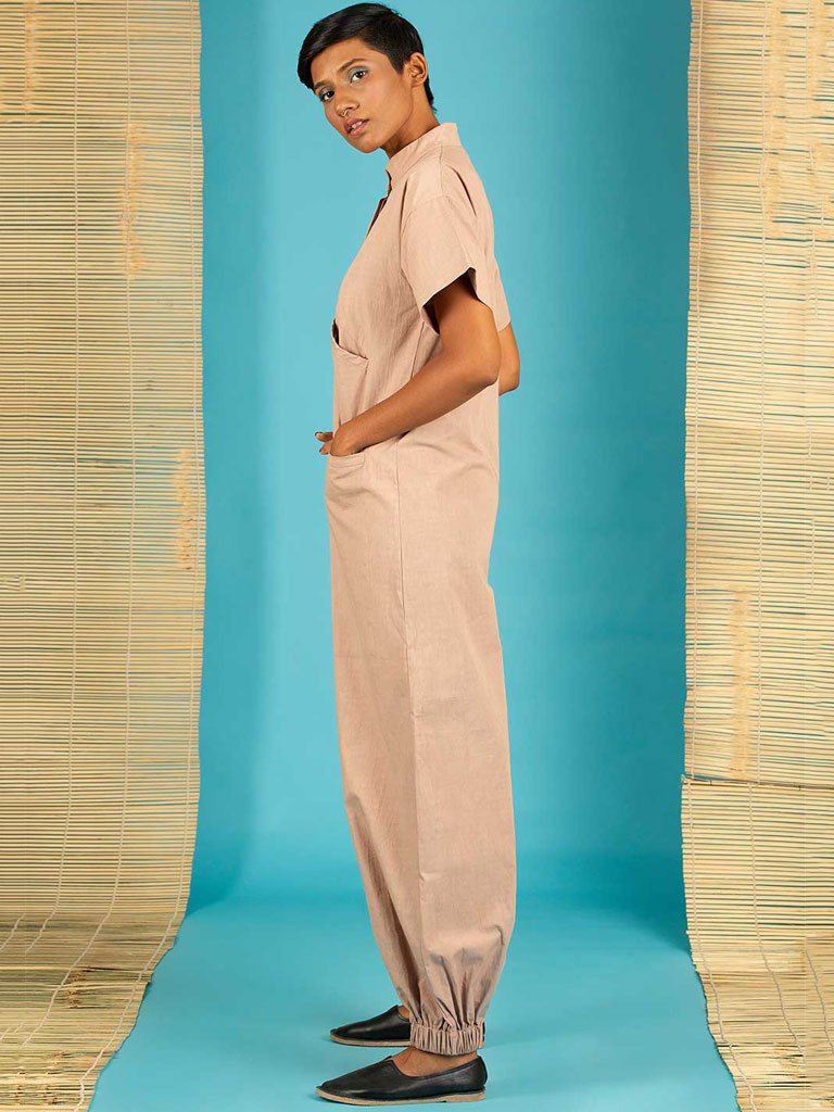 Brown Jumpsuit side view