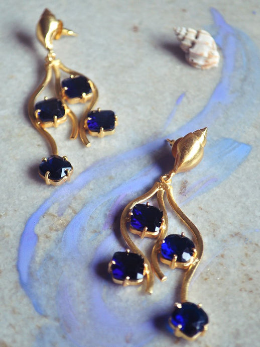 Cascade Earrings-Jewellery-IKKIVI