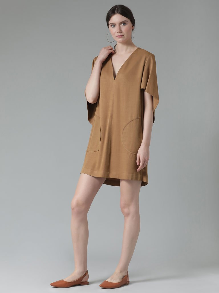 Soft tencel  short shift dress