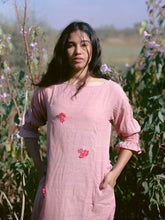 Load image into Gallery viewer, Dusty Pink Floral Dress-DRESSES-IKKIVI