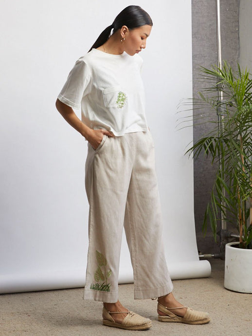 Easy Wideleg Trousers-BOTTOMS-IKKIVI
