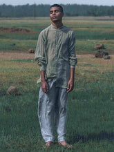 Load image into Gallery viewer, Faded Olive Dual Pocket Kurta Shirt-SHIRTS-IKKIVI