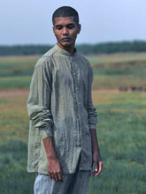 Load image into Gallery viewer, Faded Olive Pleated Shirt-SHIRTS-IKKIVI