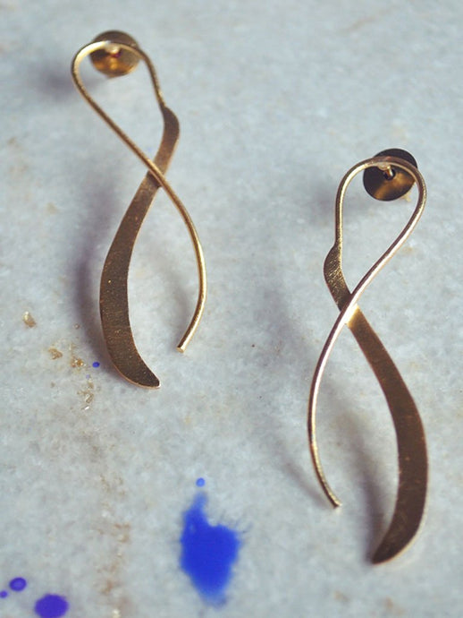 Finite Loop Earrings-Jewellery-IKKIVI
