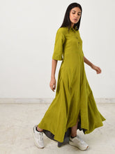Load image into Gallery viewer, Green Collar Jumpy-DRESSES-IKKIVI