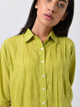 Load image into Gallery viewer, Green Pleated Kurta-DRESSES-IKKIVI