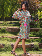 Load image into Gallery viewer, Green Print Dress-DRESSES-IKKIVI