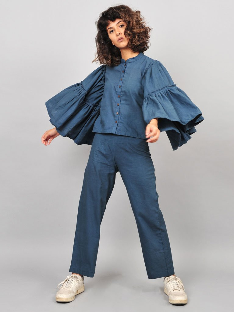 Grey Umbrella Blouse-TOPS-IKKIVI