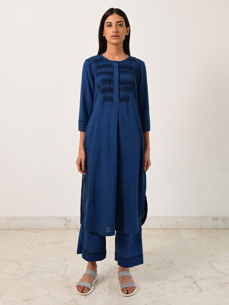 Knife Pleat Kurta & Pants-DRESSES-IKKIVI